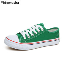 YIdemusha 2018 Spring Autumn Canvas flat Mens Vulcanize Shoes Lace-up Retro Classic Flat Shoes Breathable Men Fashion footwear cheap Adult Spring Autumn Low (1cm-3cm) Solid Fabric Shallow Fits true to size take your normal size
