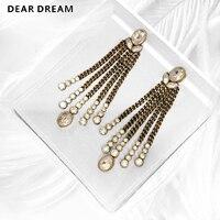 Fashion Jewelry Letter Horse Eye Angel Chain Tassel Earrings For Wedding Party Birthday Gift Women Girl
