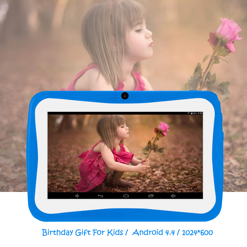 BDF Kids Tablette PC 7 Inch for children Android Tablet 4.4 Quad Core 8GB 1024x600 Children Education Games Baby Tab PC Wifi odell education developing core literacy proficiencies grade 7
