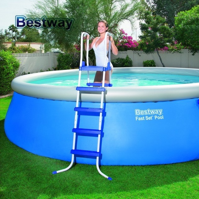 "58337 Bestway 1.32m Safety Pool Ladder  52"" Specially Designed Ladder for AGP Height less than 132cm Swimming Pool Stairs"