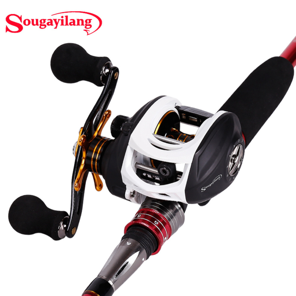Sougayilang 9 1bb baitcasting fishing reel 7 1 left right for Left handed fishing reels