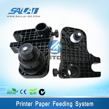 feeding paper system without motor for eco solvent printer