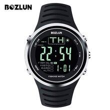 Bozlun FW01 2016 Nuevos Hombres Reloj Deportivo de Pesca Digital Altímetro Barómetro Termómetro Impermeable Relogio Relojes Con Luz de Fondo