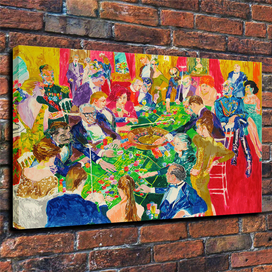 LeRoy Neiman Music and Sports Event Color Print Canvas Painting Living Room Bedroom Home Decor Modern Mural Art Oil Painting#076