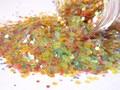 Resistente a los disolventes del brillo iridiscente al azar de corte media confeti brillo para esmalte de uñas Nail Art Crafts G382