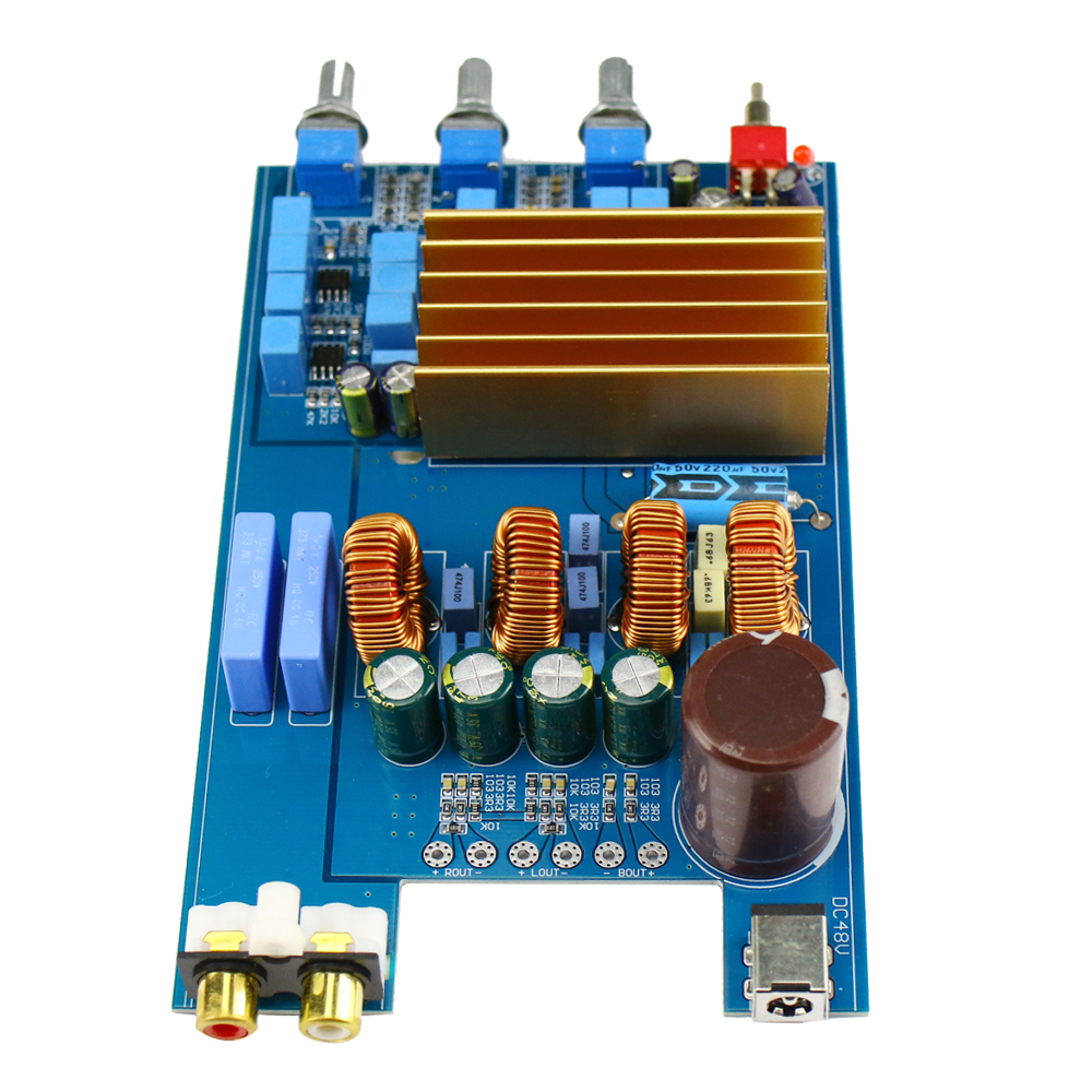 TPA3255 2.1 300W+150W+150W 1000UF//80V Class D HIFI digital Power Amplifier Board