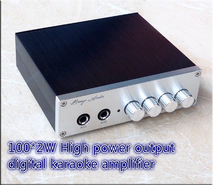 Utiliser 2 pcs TPA3116D2 puce kara amplificateur Unique DC 8-25 V 100 W + 100 W HD Kara OK Amplificateur Double JRC5532 pré-amplificateur