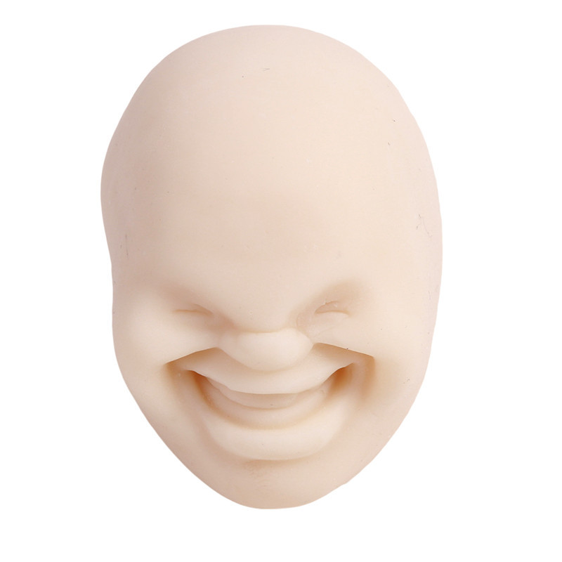 Забавная Новинка каомару, антистрессовая игрушка с мячом, с человечеловеческим лицом, удивище, сюрприз, эмоция, шар из смолы, расслабляющая, для взрослых, игрушка для снятия стресса, подарок - Цвет: White 3