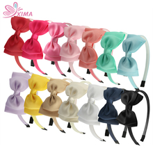 XIMA 14pcs/lot 4 Grosgrain Hair Ribbon Bow Headband Girls Plastic Teeth Hairband Tiaras Party Headband Hair Accessories
