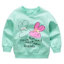 Купить с кэшбэком HOT! Free shipping 2019 spring autumn cotton Children's Long Sleeve Sweet T-Shirts  Girls Clothing baby girls bow tops