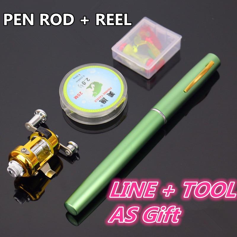 Mini Fish Pen Fishing <font><b>Rod</b></font> Telescopic Fishing <font><b>Rod</b></font> Pen Kit Pesca <font><b>Rod</b></font> And Reel Set Accessories Cheap fishing <font><b>rods</b></font> and reels FR145
