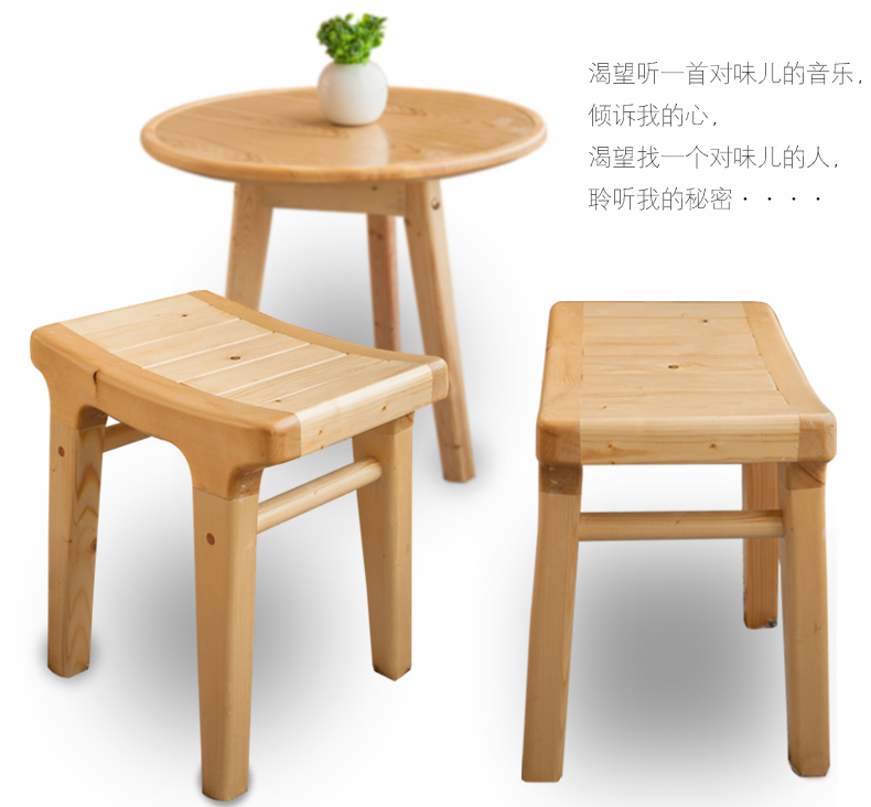 100% Wooden stool, pure natural Handmade, solid wood furniture ...