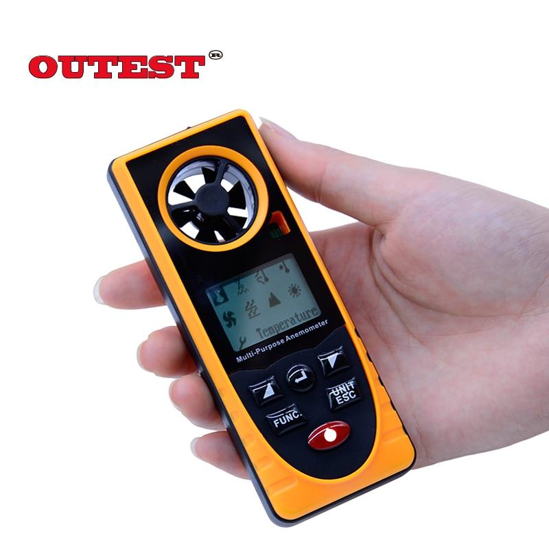 GM8910 Multi-functional digital anemometer wind chill dew point barometric pressure tester -40-10 degree