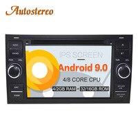Android 9 Car CD DVD Player For FORD FOCUS C MAX FIESTA FUSION GALAXY TRANSIT KUGA GPS navigation multimedia radio tape recooder