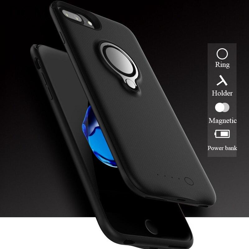 7000 mAh Sauvegarde Charge De La Batterie Power case avec support Pour iphone 6 s Portable Externe Charge Téléphone Couverture Pour iphone 6 7 8 plus