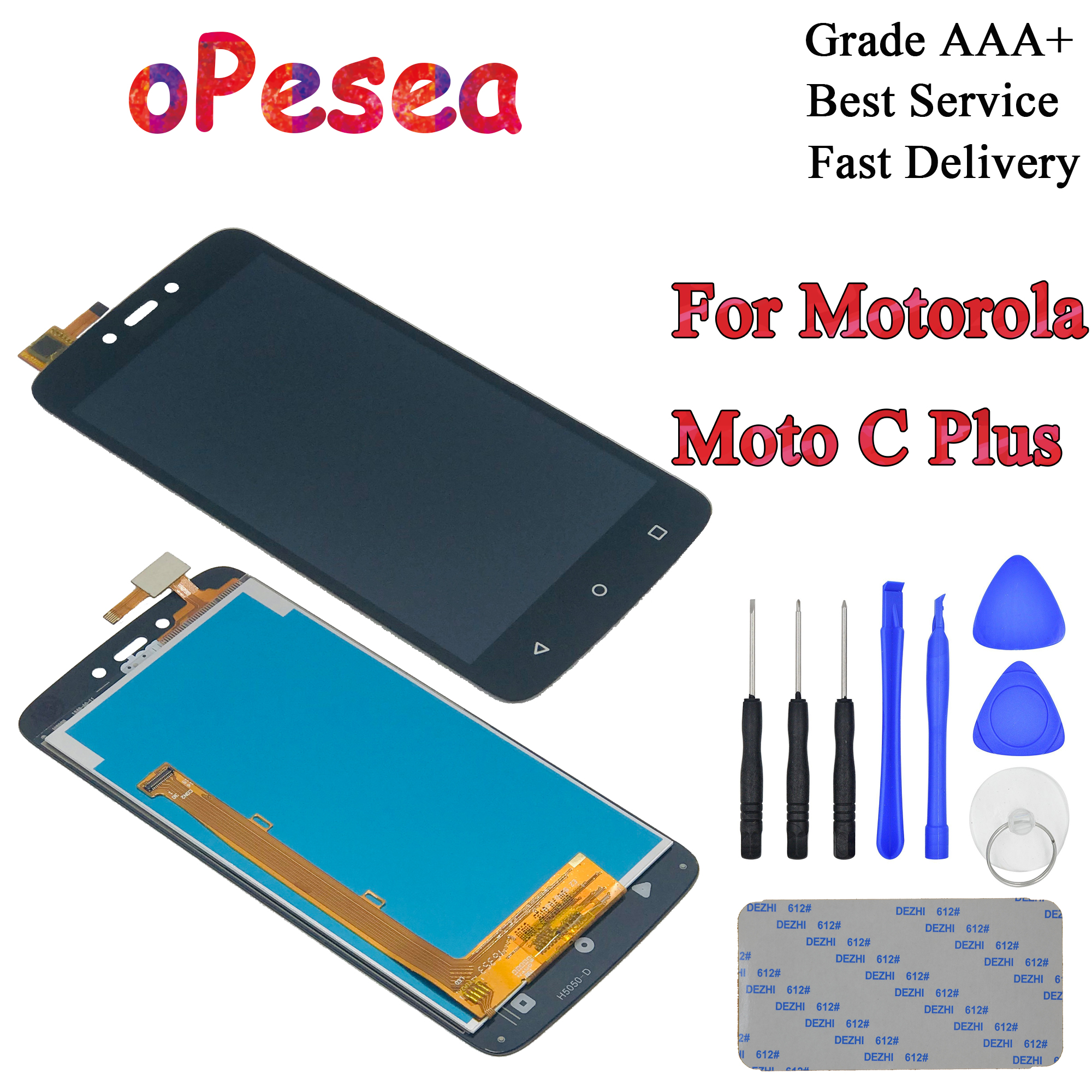 oPesea 5.0'' For Motorola Moto C Plus CPlus XT1721 XT1722 <font><b>XT1723</b></font> XT1724 LCD Display Panel Touch Screen Digitizer Assembly image