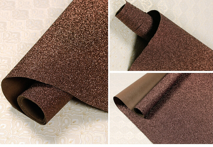 Tissu Textile revêtements muraux lumière argent paillettes papier peint rouleau, noir paillettes décoration de la maison revêtements muraux - 3