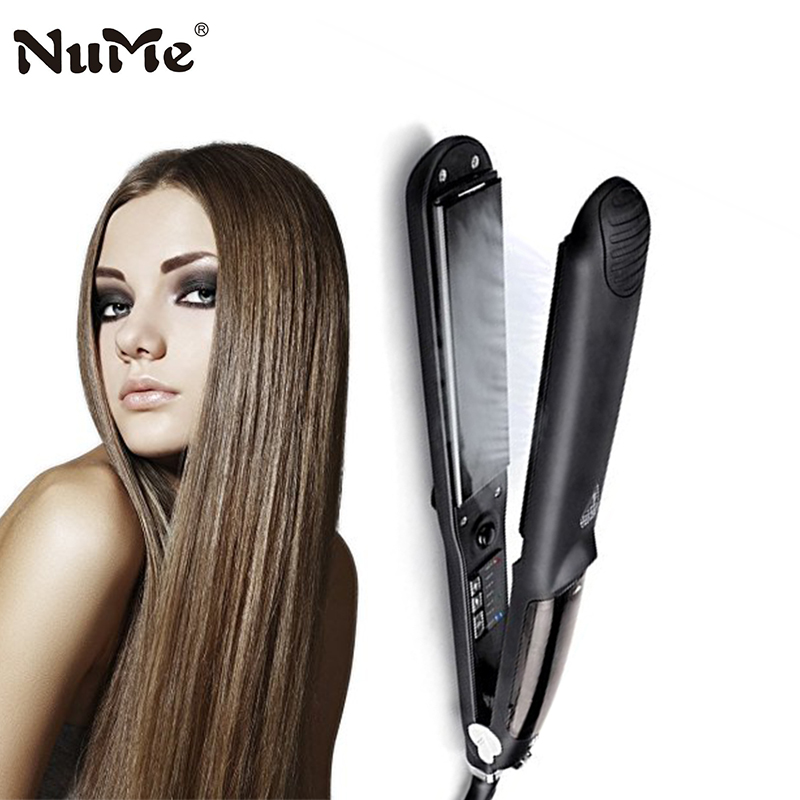 Professional Steam Hair Straightener Ceramic Hair Straightening Iron Electric Hair Curler Curling Iron Salon Styling Tools led display floating spray steam hair straightener hair flat iron curler curling irons ceramic straightening plate styling tools