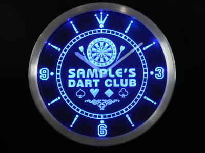 ncts-tm Name Personalized Custom Dart Club Bar Beer Neon Sign LED Clock Wholesale Dropshipping