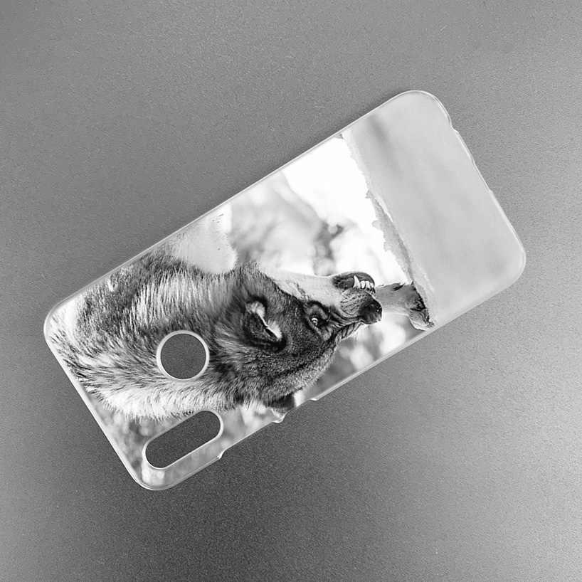 Девушка и чехол с волком для huawei Honor 8X Y9 9 10 Lite Play 8C 8S 8A Pro V20 20i 10i Y6 Y7 2019 Жесткий PC Coque Capa чехол для телефона