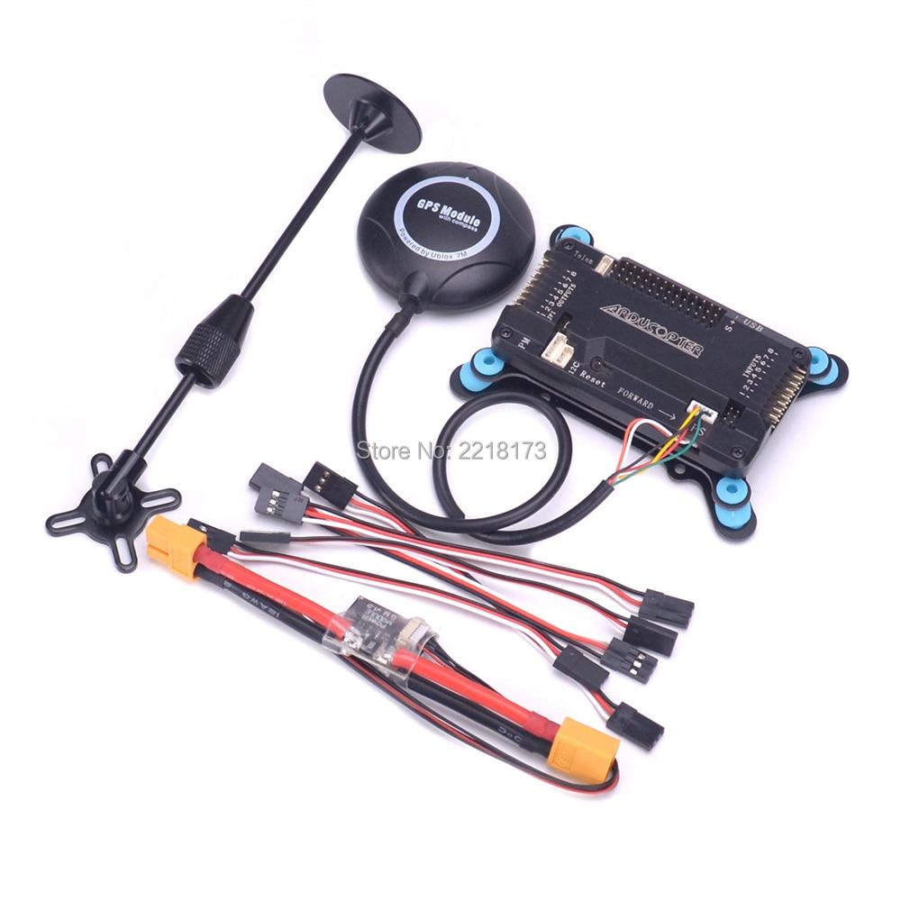 APM2.8 APM 2.8 Flight Controller Board modulo di Potenza 6 m/7 m/M8N GPS w/bussola di Alimentazione modulo Per F450 S500 Quadcopter Multicopter