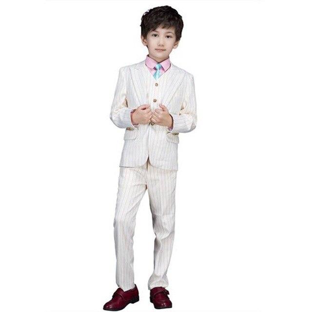 Высокое качество 2016 почетный малыш смокинги мальчика камвольно белый цвет регулярные специальный свадебный YIYI мальчиков наряд BA011