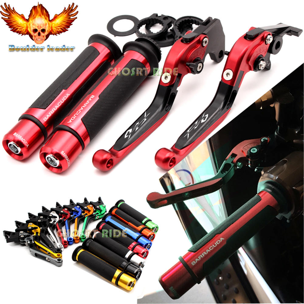 For Yamaha FZ6 FAZER 2004-2010 2005 2006 2007 2008 2009 Motorcycle Adjustable Folding Brake Clutch Levers Handlebar Hand Grips cnc folding foldable brake clutch levers for suzuki sv650 s1999 2000 2001 2002 2003 2004 2005 2006 2007 2008 2009 2010