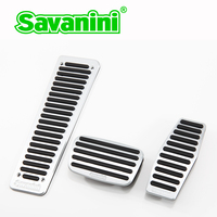 Savanini Car Footrest Clutch Brake Gas Pedal Pad no drilling for Buick Regal/Lacrosse AT/MT aluminum alloy no screws styling