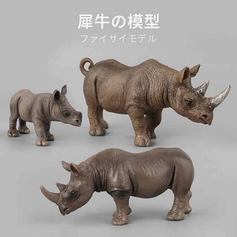 Animal Model Simulation Animal Toy Rhinoceros Plastic Zoo Animal Figure Lovely Animal Models Action Toys Gift For Kids animal свитшот animal dano k24 m