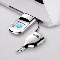 EAGET USB Flash Drive 32GB 64GB Pendrive USB 2.0 Recognition Fingerprint Encryption Flash Disk USB Memory Stick Mini Pen Drive