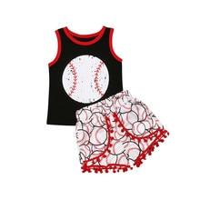 Casual Toddler Kids Baby Girls Boys Baseball Tops Vest T-Shi