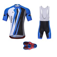 Hot sale summer Bike uniform Short sleeve cycling jersey set men Short-sleeved sports suit skinsuit