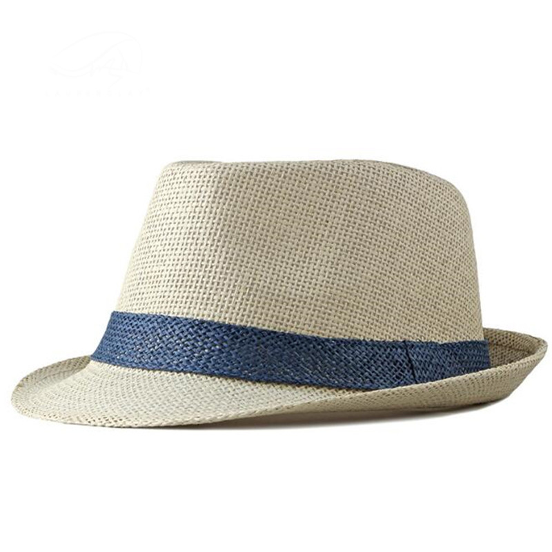 Fashion Male Straw Breathable Fedoras Middle-aged Outdoor Sunscreen Beach Visor Simple Retro Multi Color Jazz Hat For Men