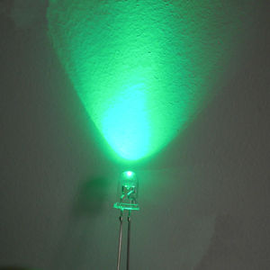 3MM LED Light-Emitting Diodes Green Glow Green Light Highlighted Luminous Tube 100 PCS / 1 Lot