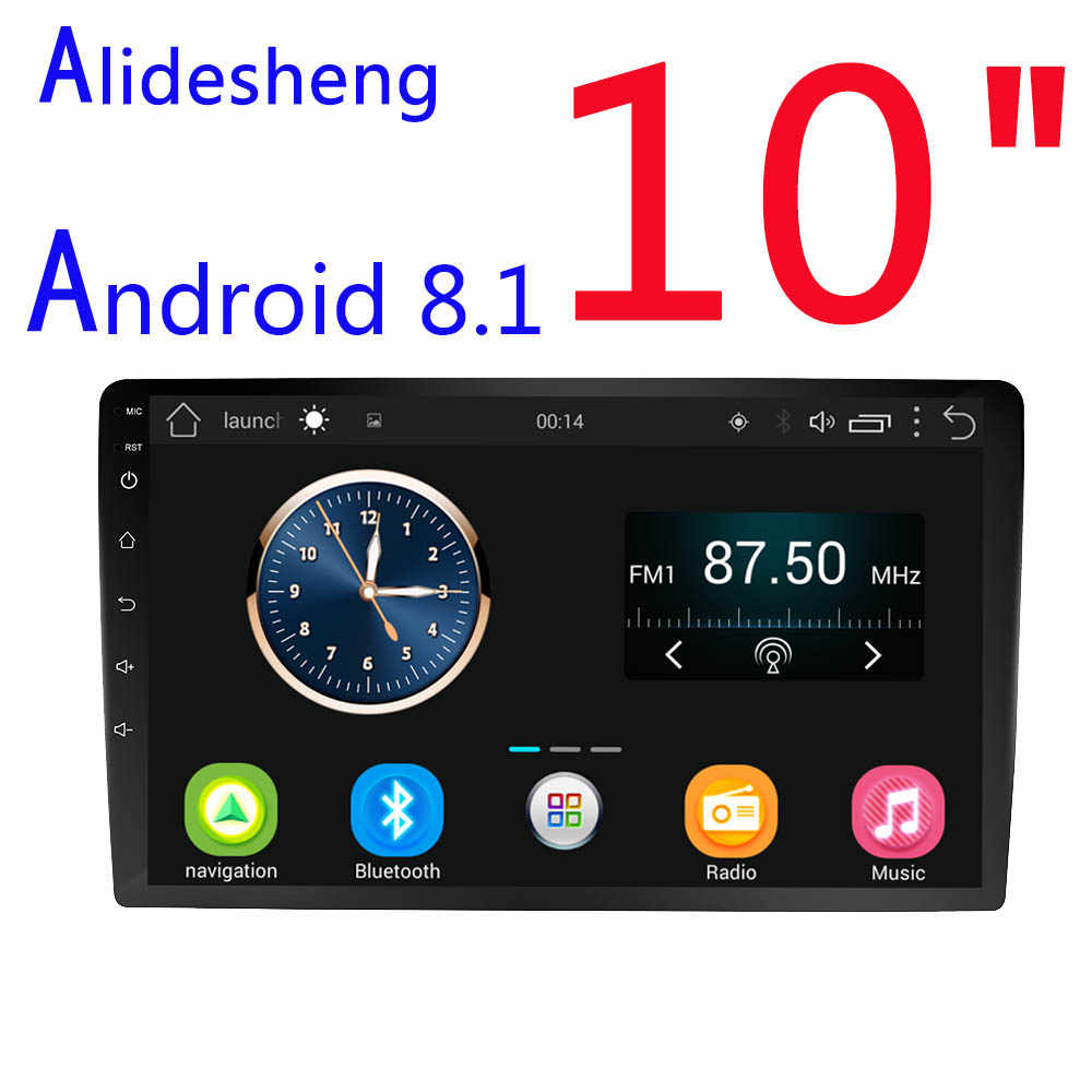 2.5D 10'' HD Android 8.1 Car DVD Multimedia player Car Stereo Bluetooth WIFI GPS navigation Radio Audio Video Player