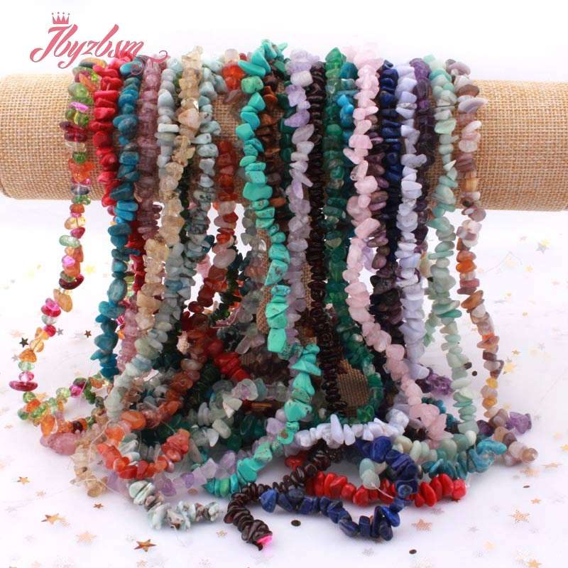 "4-7mm Freeform Chip Natural Stone Beads Lapis Kyanite Opal Quartz For DIY Necklace Bracelet Jewelry Making Loose Fashion 16""(China)"