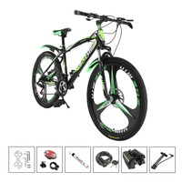 Russian Warehouse 26 Inch Folding Mountain Bike 21 Speeds Double Disc Brake Variable Speed Folding Bicycle Aluminum Alloy
