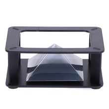 ALLOYSEED 3D Hologram Display Stand Projector Pyramid Hologram Display Luxury Showcase For 3.5-6inch Mobile Phone