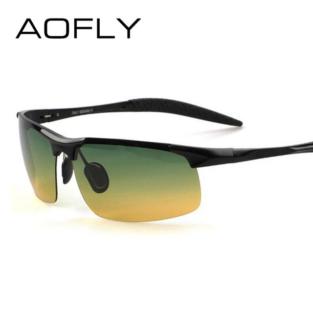 Liga de Alumínio e magnésio motorista Homens óculos polarizados óculos de sol dia e noite Óculos de Condução Reduzir O Brilho de alta qualidade S1502