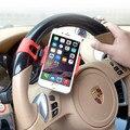 Cubierta del volante del coche del sostenedor del montaje de goma banda para el iphone ipod mp4 gps titulares de teléfono móvil