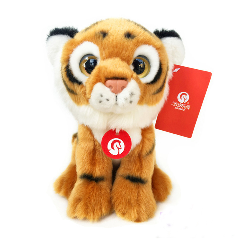19cm Simulation Tiger Plush Toys Stuffed Wild Animal Toys Cute Simulation Plush Dolls Gifts For Children stuffed animal 110cm plush tiger toy about 43 inch simulation tiger doll great gift free shipping w018