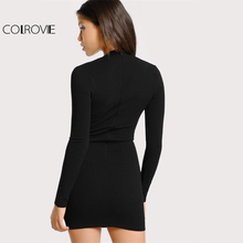 Form Fitting Sweetheart Long Sleeve Bodycon Dress with Lining