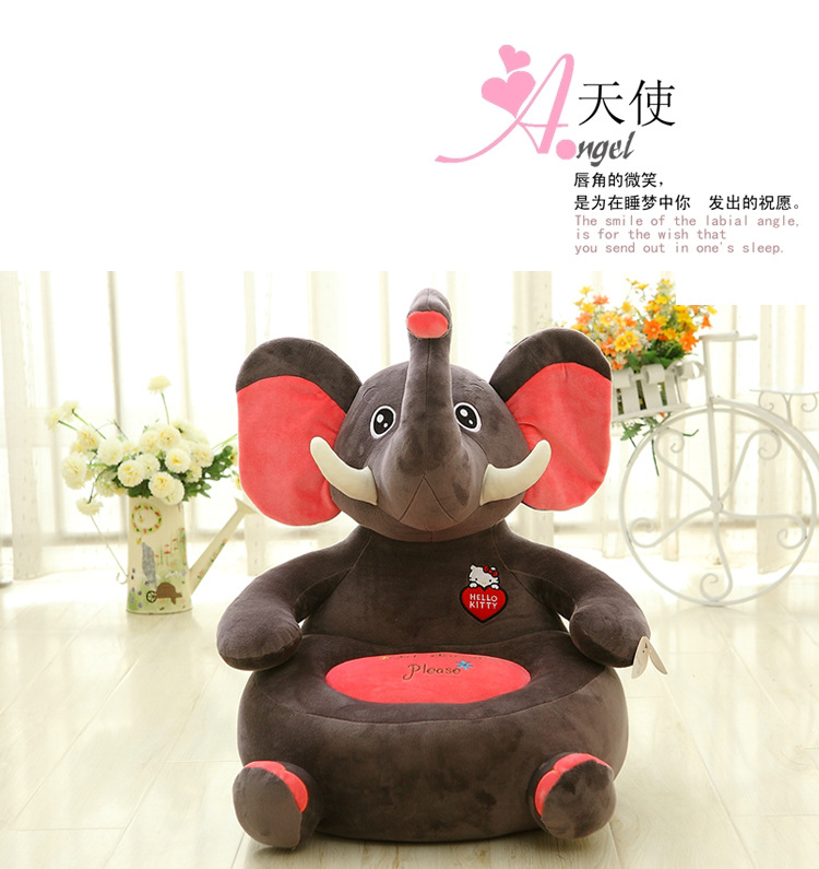 ФОТО stuffed toy lovely animal design elephant panda, dinosaur sofa tatami plush toy sofa floor seat cushion gift w0022