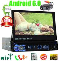 GPS Radio DVD Player 1 Din Android Car PC Stereo Navigation with WiFi Touch Screen Bluetooth Quad CORE 7 inch Split Screen map