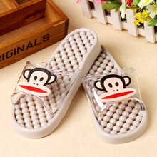 New Cute bath slippers leaking shower bathroom slippers summer prevent slippery massage slippers Cartoon Cut-Outs sandals