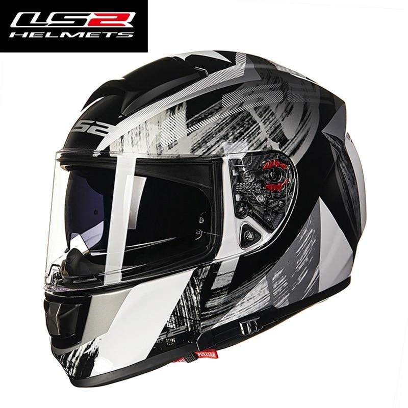 LS2 FF397 VETOR fibra de vidro completa rosto capacete de moto rcycle viseiras duplas embutido fone de ouvido Bluetooth aprovação ECE capacete de corrida de moto