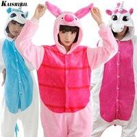 Unicorn Animal Pajamas Adult Cosplay Kigurumi Onesie Cartoon Sleepwear Pyjamas Women Unisex Monkey Kumamon Pig Anime