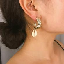 Earrings Fashion Bohemian Gifts Earrings For Women Alloy Shell Jewelry Exaggerated Creativity Beach Style