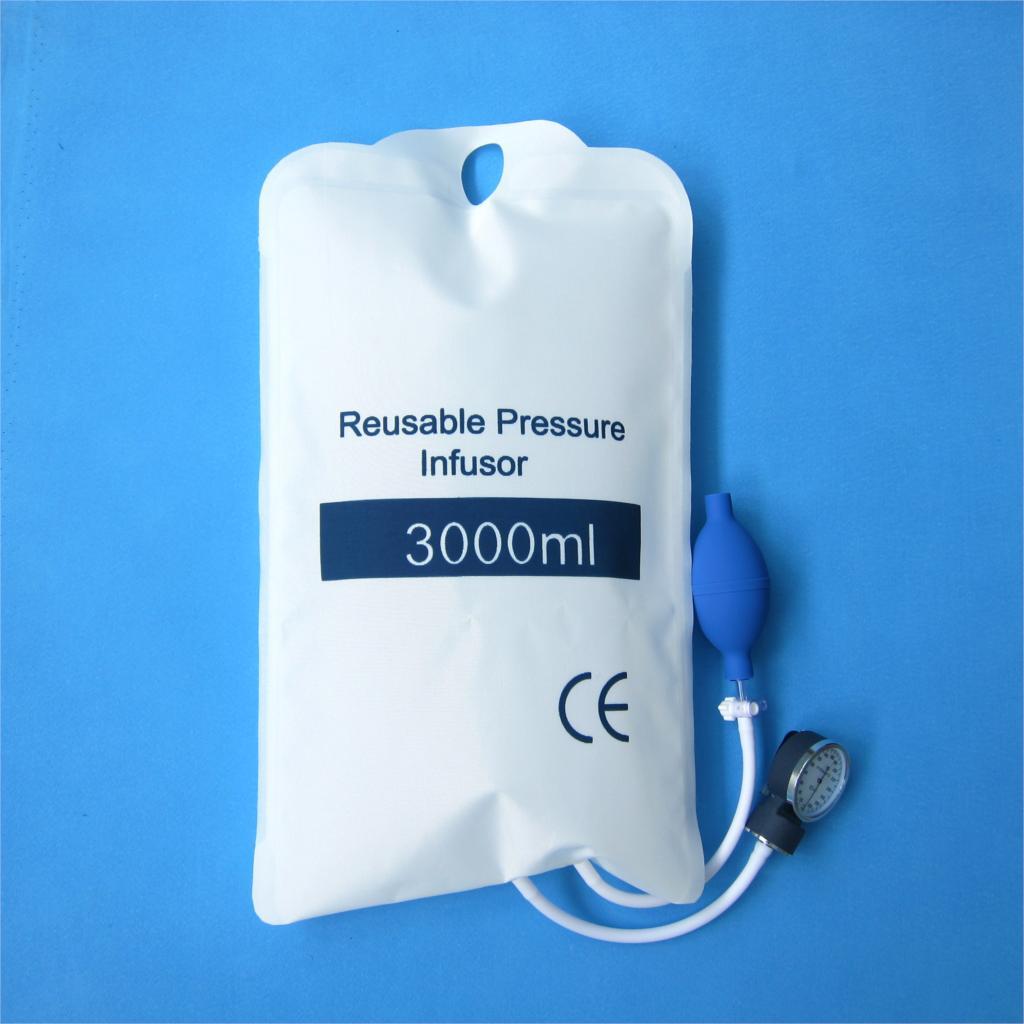 Manchette de pression fluide de qualité 3000 ml, avec jauge 0-3000 mbar et boule de pompe à main avec cuillère