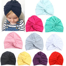 Baby Spring Hat Turban Cute Kids Girls Boys Caps Toddler Fashion Hats Newborn Beanie Hat Children Winter Cap(China)